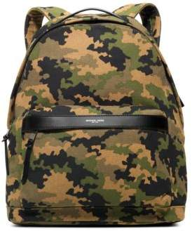 Michael Kors Bonded Canvas Camouflage Backpack