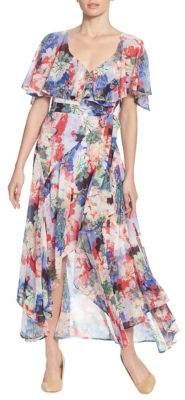 Catherine Malandrino Ruffled Midi Wrap Dress
