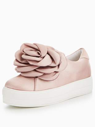 Lost Ink Oversized Flower Plimsoll - Blush