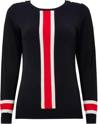 Next Womens Wallis Petite Black Stripe Jumper