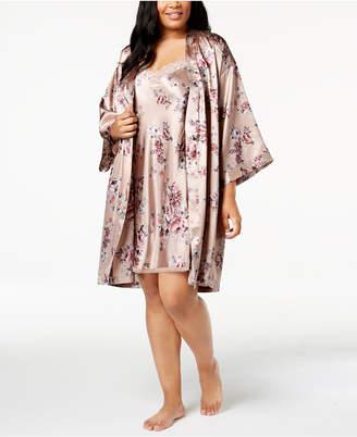 Thalia Sodi Plus Size Floral-Print Charmeuse Wrap