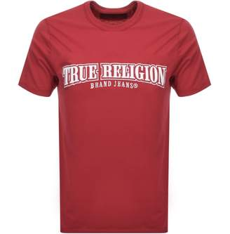 True Religion Crew Neck Logo T Shirt Red