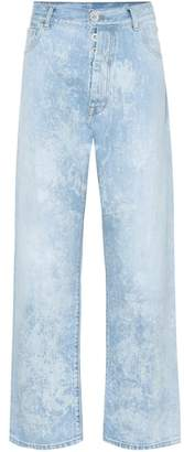 Unravel Mottle wide-leg jeans