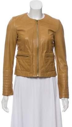Tory Burch Leather Moto Jacket