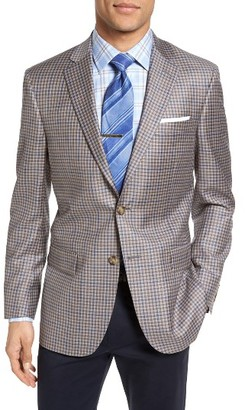 Men's Hart Schaffner Marx Classic Fit Check Wool Sport Coat $595 thestylecure.com