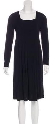Aquascutum London Long Sleeve Midi Dress