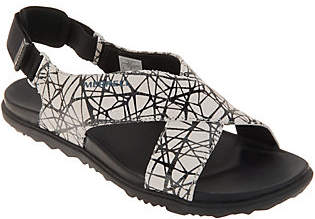 Merrell Leather Backstrap Sandals - AroundTown Sunvue