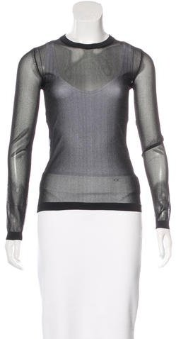 Tom Ford Mesh Long Sleeve Top