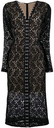 Stella McCartney lace fitted midi dress