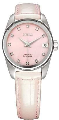 Jowissa Women's J4.058.M Monte Carlo Automatic Pink Rhinestone Watch