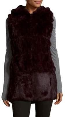 Plush Dyed Rabbit Fur Vest