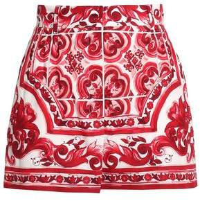Dolce & Gabbana Printed Cotton-Blend Poplin Shorts