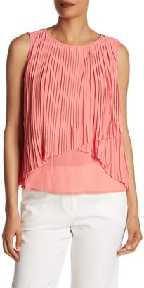 FRNCH Sleeveless Pleated Top