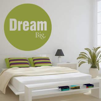 Wall Art Bold Circle 'Dream Big' Wall Sticker