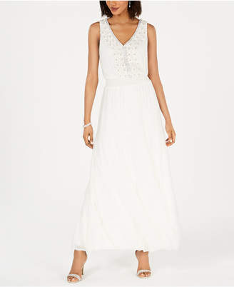 MSK Embellished Tiered Gown