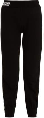 Fendi Contrast side-stripe cotton track pants