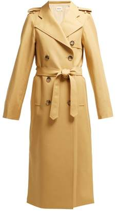 KHAITE Felice Cotton Twill Trench Coat - Womens - Beige
