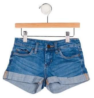 Blank NYC Girls' Cuffed Denim Shorts