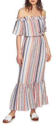 1 STATE 1.STATE Cinched Waist Off the Shoulder Maxi Dress
