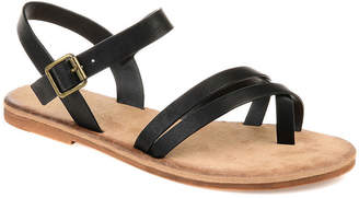 Journee Collection Womens Vasek Ankle Strap Flat Sandals