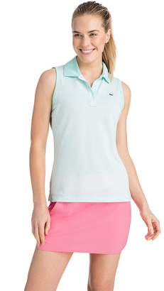 Vineyard Vines Sleeveless Stripe Pique Sport Polo