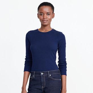 Ralph Lauren Button-Shoulder Cotton Tee $59.50 thestylecure.com
