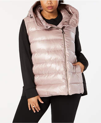 Calvin Klein Plus Size Quilted Hooded Down Jacket
