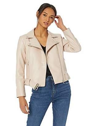 BB Dakota Womens Guest List Texture Vegan Leather Moto with Belt