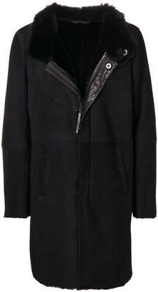 Emporio Armani shearling coat