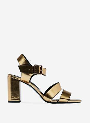 Dorothy Perkins Womens Gold 'Betty' Heeled Sandals