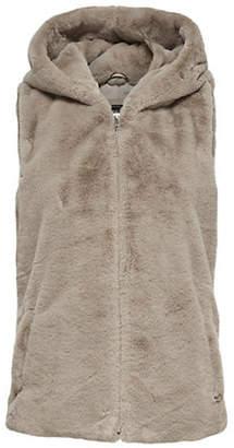 Only Faux Fur Hooded Waistcoat