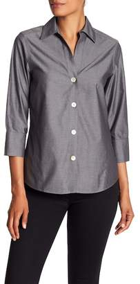 Foxcroft Solid Cuffed Blouse