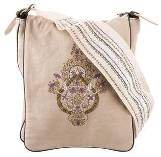 Schumacher Dorothee Embroidered Canvas Messenger Bag