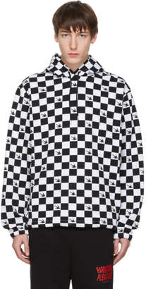 McQ Black and White Check Swallow Hoodie