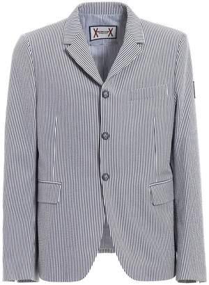 Moncler Gamme Bleu Striped Seersucker Iconic Blazer