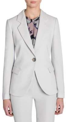 Giorgio Armani Lana One-Button Jacket