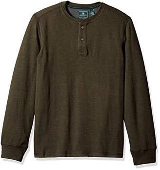 G.H. Bass & Co. Men's Carbon Long Sleeve Jersey Henley Shirt