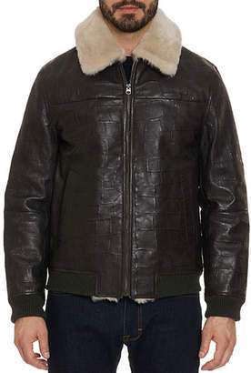 Robert Graham Men's Corson Bomber Jacket with Shearling Trim