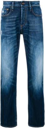 Denham Jeans mid-rise ice blasted jeans