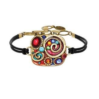 "Multi-Colored Jewel Bracelet ""Confetti Square"""