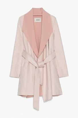 Genuine People Pink Faux Suede Jacket