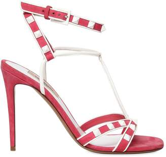 Valentino 105mm Free Rockstud Suede Sandals