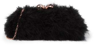 Ted Baker Loop Bow Feather Evening Bag