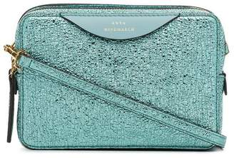 Anya Hindmarch aquamarine blue the stack double leather shoulder bag