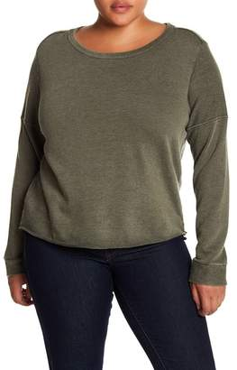 Melrose and Market Cropped Crew Neck Sweatshirt (Plus Size)