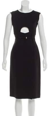 Calvin Klein Sleeveless Midi Dress Black Sleeveless Midi Dress