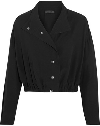Isabel Marant - Lynton Wool-blend Crepe Jacket - Black $640 thestylecure.com