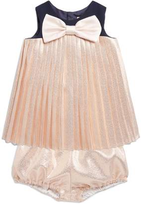 Hucklebones London Pleated Trapeze Dress and Bloomers Set