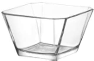 Lav LAV 64.25 Ounce Glass Serving Bowl | Beautiful Geometric Squared Shape, Made from Thick, Durable Glass, Great for Salads, Dessert, Fruit, and More, Microwave and Dishwasher Safe