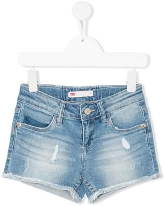 Levi's Kids stonewashed frayed shorts